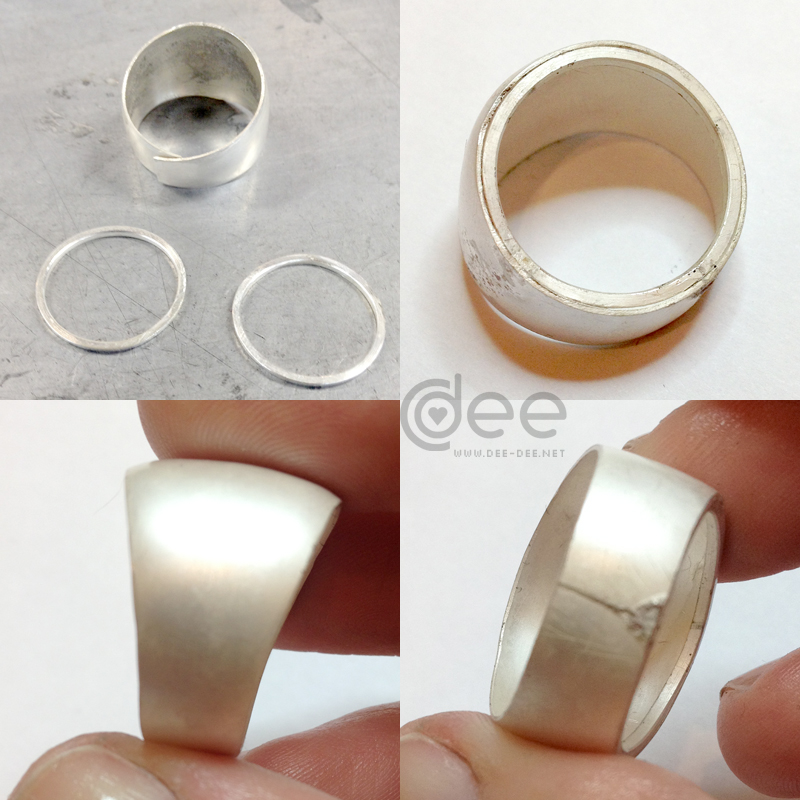 silver ring tutorial by Dee Caria